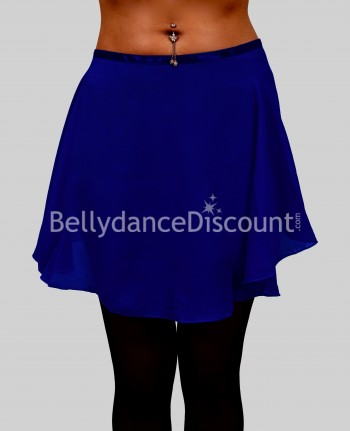Dark blue chiffon dance small skirt