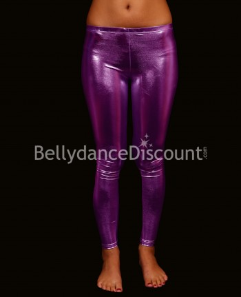 Metallic purple Bellydance leggings