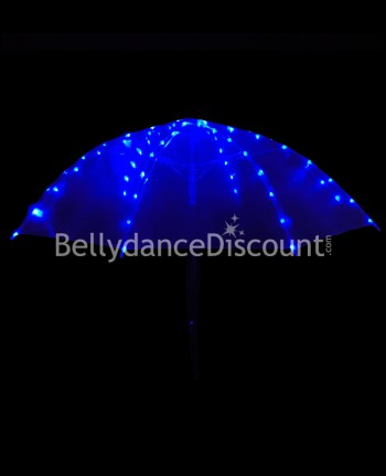 Regenschirm mit LED in Blau