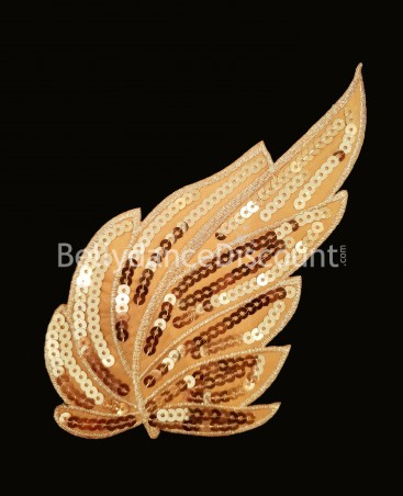 "Sew-on ""Leaf"" pattern gold"