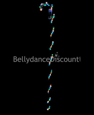 Multicolored light-up dance cane