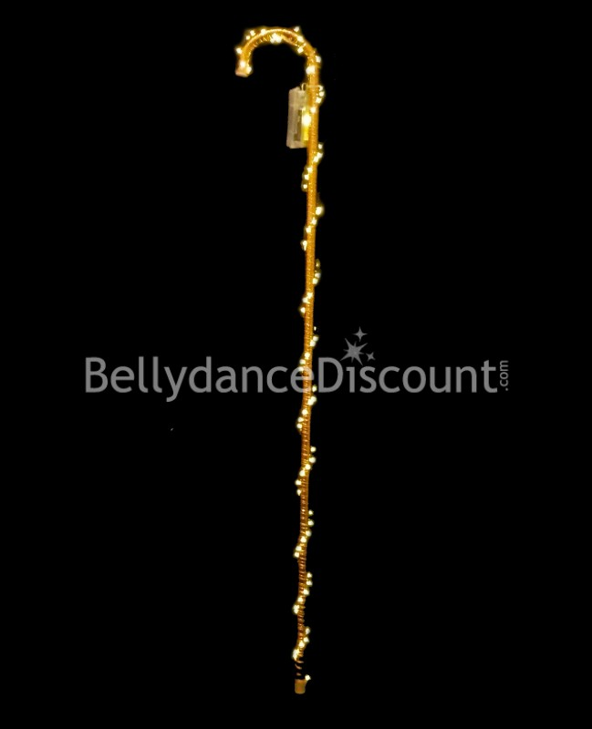 Gold light-up dance cane
