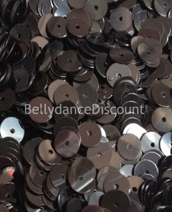 Pack of 1000 black sew-on mini coins