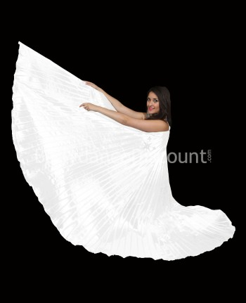White opaque belly dance Isis wings