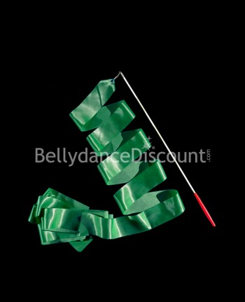 Emerald green Bellydance and rhythmic gymnastics ribbon