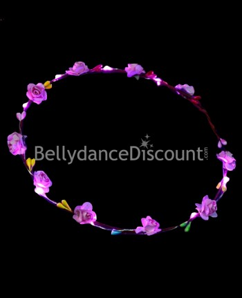 Light up pink flower headband
