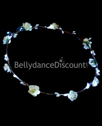 Light up white flower headband