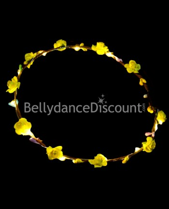 Light up yellow flower headband