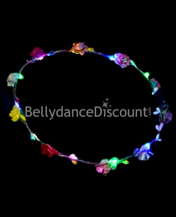 Light up multicolored flower headband