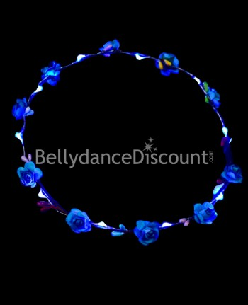 Light up blue flower headband