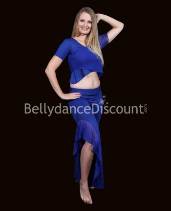 Midnight blue 3-piece dance outfit