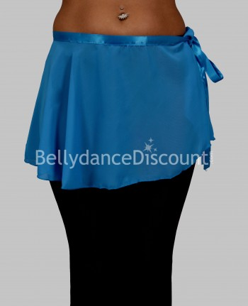 Light blue chiffon dance small skirt