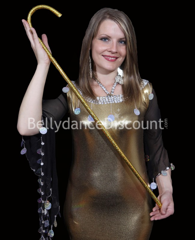 Gold cane for belly dance