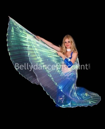 White transparent belly dance Isis wings