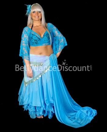 Light blue oriental dance...