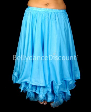 Light blue belly dance skirt with lining