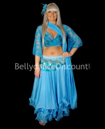 Light blue belly dance...