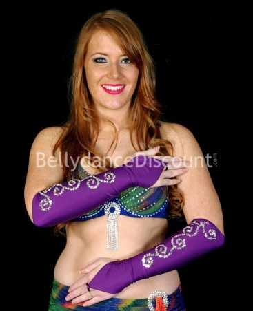 Lycra Bellydance sleeves purple