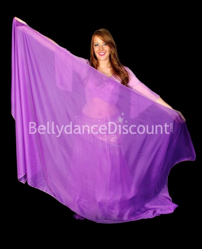 Purple rectangular oriental dance veil