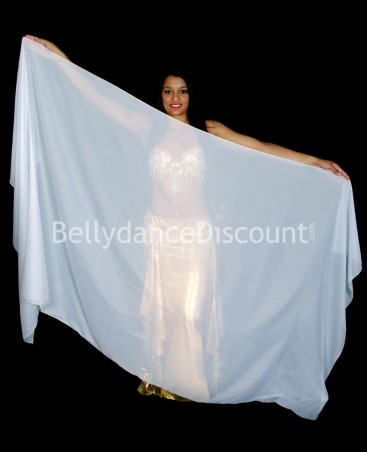 White rectangular oriental dance veil