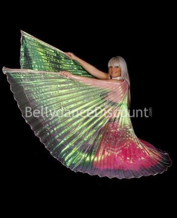 Light pink transparent belly dance Isis wings