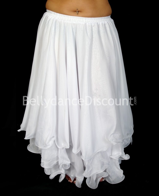 White belly dance skirt with lining