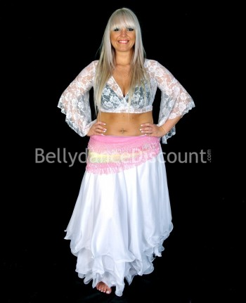 White belly dance skirt...