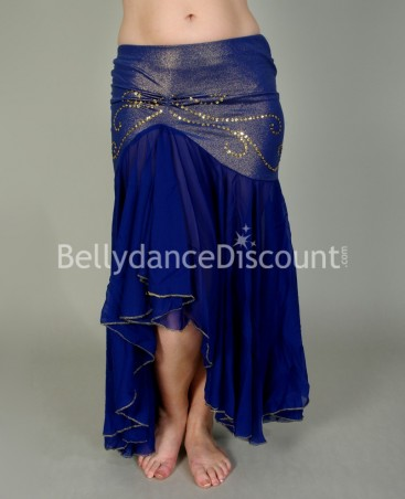 Dark blue Mermaid-style Bellydance skirt