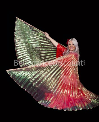 Red transparent belly dance Isis wings
