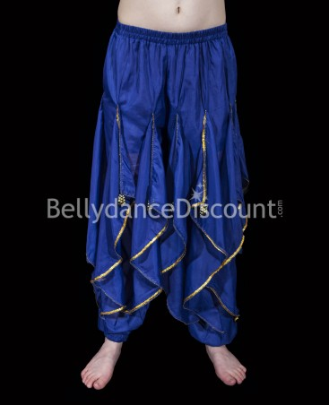 Dark blue Bellydance and Bollywood sarouel pants