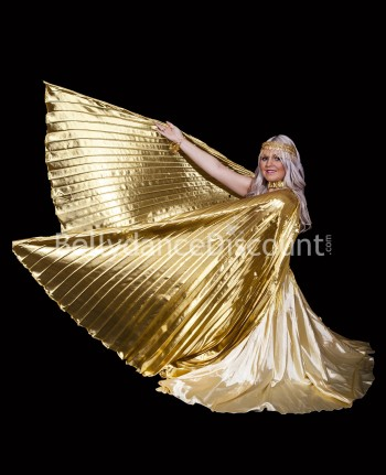 Gold belly dance open Isis wings