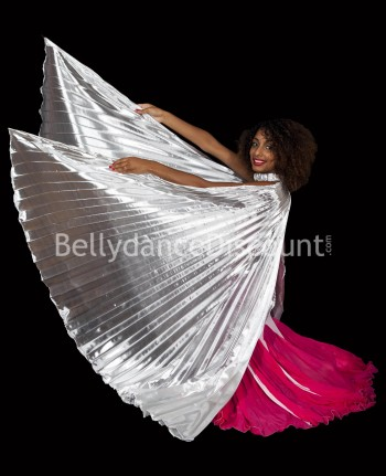 Silver belly dance open Isis wings