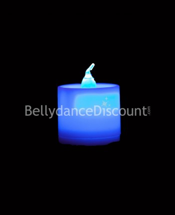 Light blue electric  Belly dance and Bollywood candle