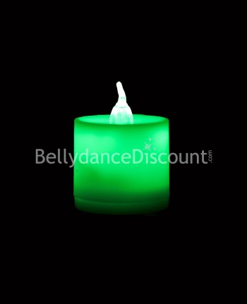 Green electric  Belly dance and Bollywood candle
