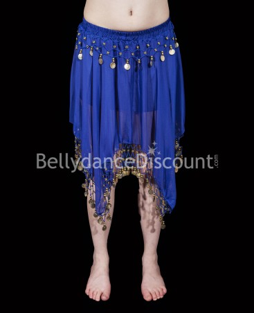 Dark blue belly dance short skirt