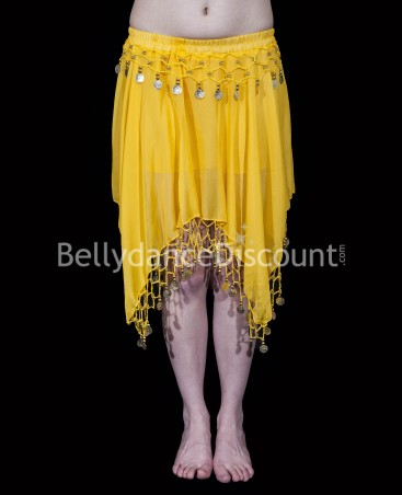Yellow belly dance short skirt