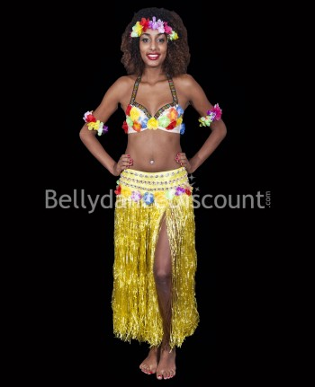 Yellow Polynesian costume
