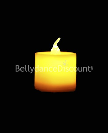 Yellow electric Belly dance and Bollywood candle