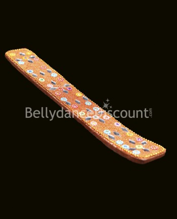 Orange  Indian incense holder