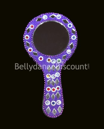 Purple Indian mirror