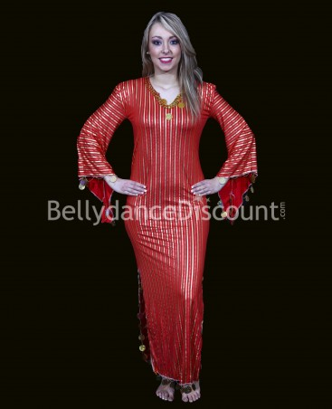 Red oriental dancing Baladi/Saïdi dress