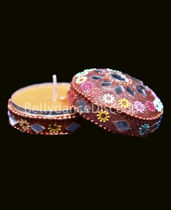 Indian jewelry box and « Lavender » scented candle