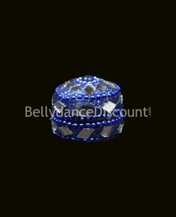 Miniature dark blue Indian box