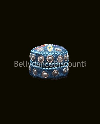 Miniature light blue Indian box