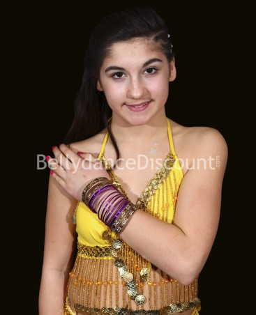 Pack of purple Bollywood children's bracelets