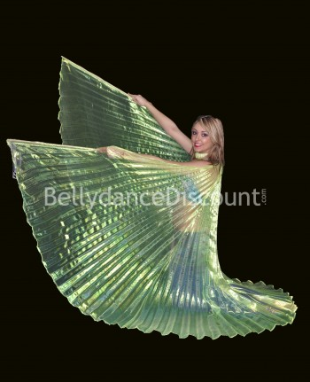 Yellow transparent belly dance Isis wings