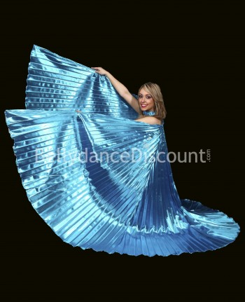 Light blue opaque belly dance Isis wings