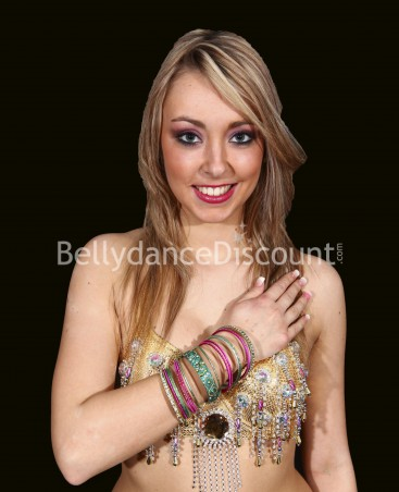 Set of 15 Indian belly dance bracelets