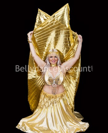 Gold opaque belly dance Isis wings