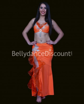 Costume de danse orientale orange